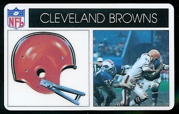 Cleveland Browns 1976 Popsicle football card