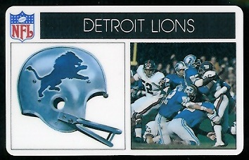 Detroit Lions 1976 Popsicle football card