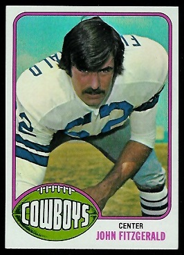 John Fitzgerald 1976 Topps football card