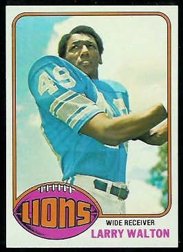 Larry Walton 1976 Topps football card