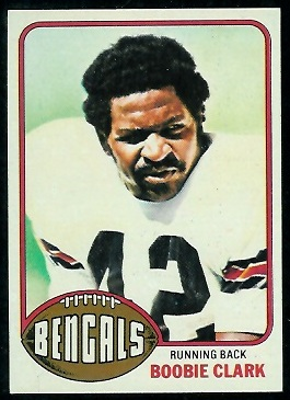 Boobie Clark 1976 Topps football card