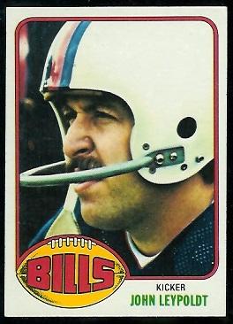 John Leypoldt 1976 Topps football card