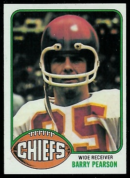 Barry Pearson 1976 Topps football card