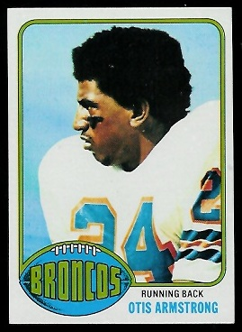 Otis Armstrong 1976 Topps football card