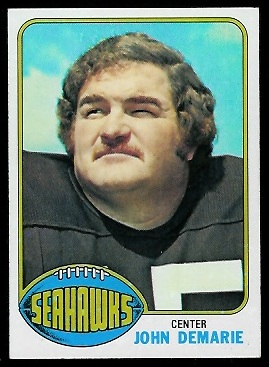 John Demarie 1976 Topps football card