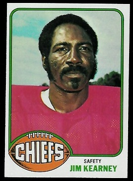 Jim Kearney 1976 Topps football card