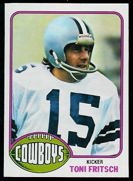 Toni Fritsch 1976 Topps football card