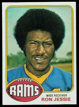 Ron Jessie 1976 Topps football card