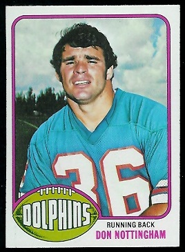 Don Nottingham 1976 Topps football card