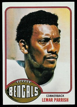 Lemar Parrish 1976 Topps football card