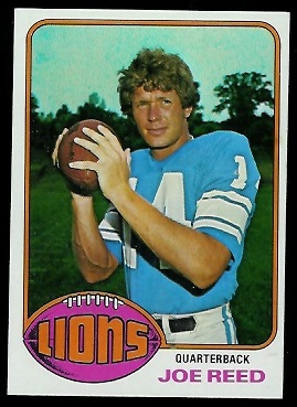 Joe Reed 1976 Topps football card