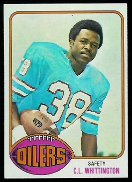 C.L. Whittington 1976 Topps football card