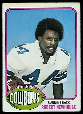 Robert Newhouse 1976 Topps football card