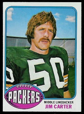 Jim Carter 1976 Topps football card