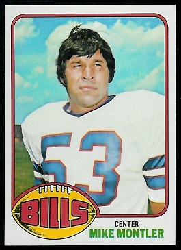Mike Montler 1976 Topps football card