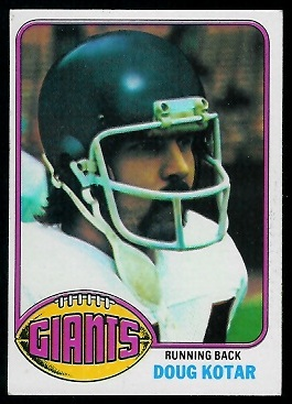 Doug Kotar 1976 Topps football card
