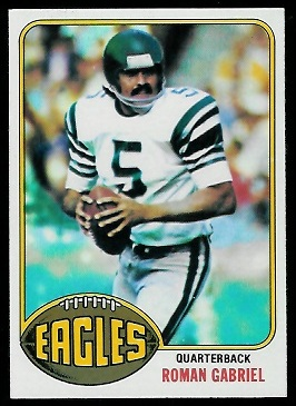 Roman Gabriel 1976 Topps football card