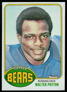 Walter Payton 1976 Topps football card