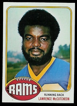 Lawrence McCutcheon 1976 Topps football card