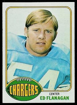 Ed Flanagan 1976 Topps football card