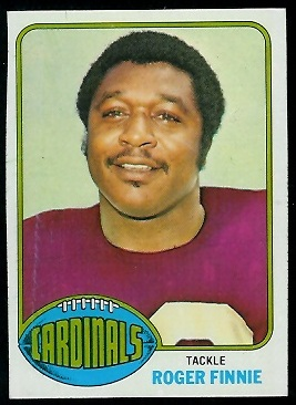 Roger Finnie 1976 Topps football card