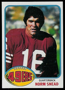 Norm Snead 1976 Topps football card