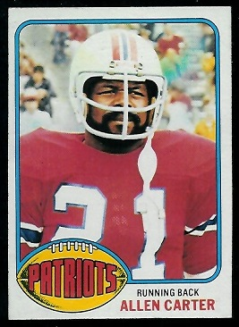 Allen Carter 1976 Topps football card