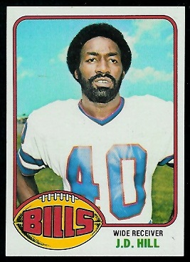 J.D. Hill 1976 Topps football card