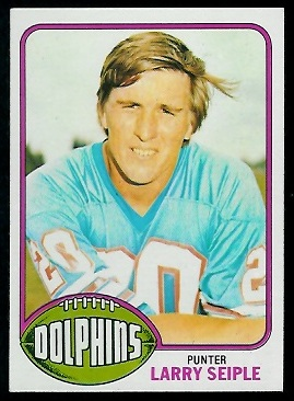 Larry Seiple 1976 Topps football card