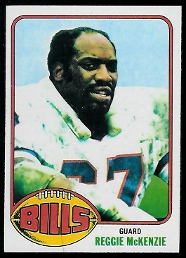 Reggie McKenzie 1976 Topps football card