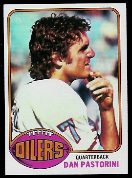 Dan Pastorini 1976 Topps football card
