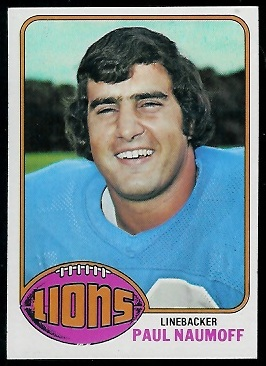 Paul Naumoff 1976 Topps football card