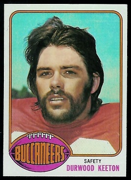Durwood Keeton 1976 Topps football card
