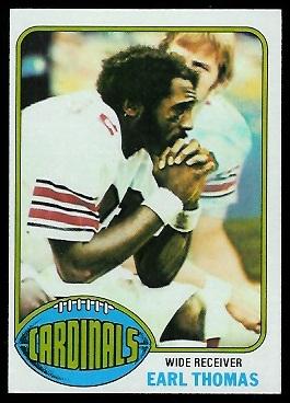 Earl Thomas 1976 Topps football card