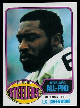 L.C. Greenwood 1976 Topps football card