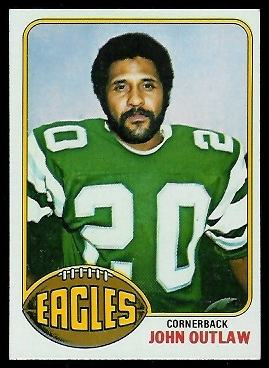 John Outlaw 1976 Topps football card