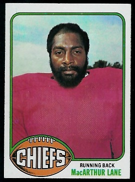 MacArthur Lane 1976 Topps football card