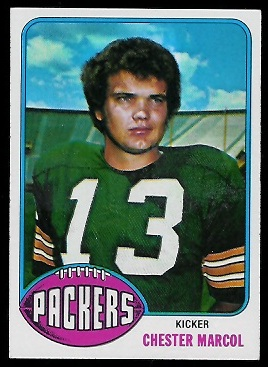 Chester Marcol 1976 Topps football card