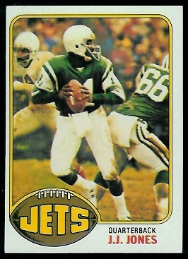 J.J. Jones 1976 Topps football card