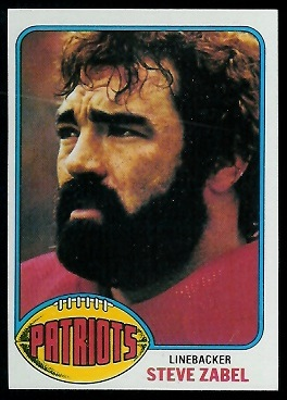Steve Zabel 1976 Topps football card