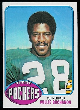 Willie Buchanon 1976 Topps football card