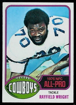 Rayfield Wright 1976 Topps football card