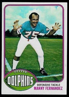 Manny Fernandez 1976 Topps football card