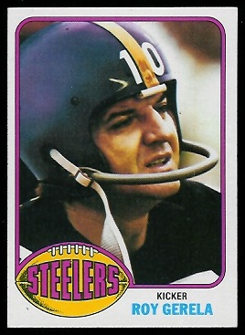Roy Gerela 1976 Topps football card