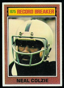 Neal Colzie: Record Breaker 1976 Topps football card
