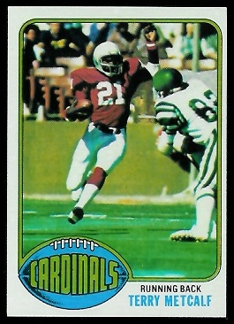 Terry Metcalf 1976 Topps football card