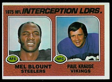 1975 Interception Leaders 1976 Topps football card