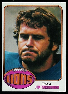 Jim Yarbrough 1976 Topps football card