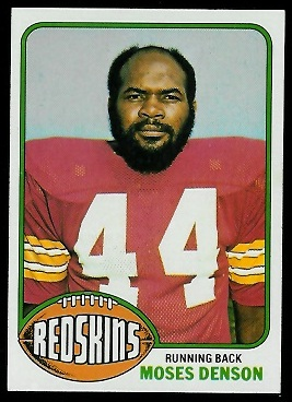 Moses Denson 1976 Topps football card