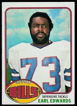 Earl Edwards 1976 Topps football card